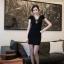 ชุดเดรสคอวี เข้ารูป สีดำ เดรสแฟชั่นเกาหลี นำเข้า สวยมากๆ ซื้อเป็นของขวัญให้แฟนเหมาะมากๆ ครับ New!! (พร้อมส่ง) thumbnail 2