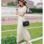 ชุดเดรสยาว DRESS ชุดเดรสผ้าลูกไม้น่ารัก เอวสม๊อครอบด้านยืดหยุ่น ผ้าคอตตอน มีซับใน ในทำงาน ใส่ออกงาน สวยน่ารัก (พร้อมส่ง) thumbnail 1